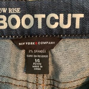 NY&C Low Rise Bootcut Jeans